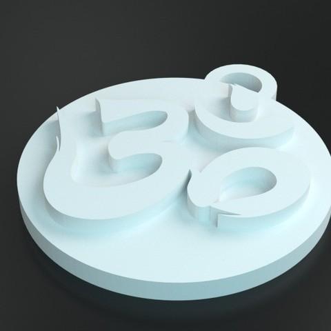 Download free 3D printing models aum medaille, ernestmocassin