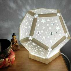 IMG_20201213_175447.jpg Download free STL file Lamp Dodecahedron Stars • Object to 3D print, ernestmocassin