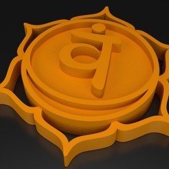 a0839cdbf4409deffc21050521963abd_display_large.jpg Télécharger fichier STL Chakra 2 Svādhisthāna - Sacral • Design pour imprimante 3D, ernestmocassin
