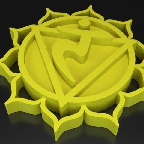 Objet 3D gratuit Chakra 3 Maṇipūra - Plexus solaire, ernestmocassin
