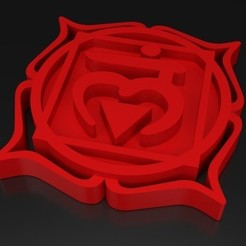 Free 3D print files Chakra 1 Mūlādhāra - root, ernestmocassin