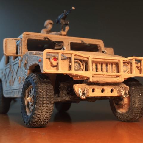 Capture d'écran 2018-03-30 à 16.07.56.png Download STL file HUMMER H1 - Assembly model kit 1:35 • 3D print model, guillesilvestrini