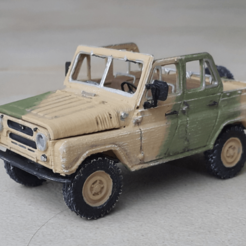 Free 3d printer designs UAZ 469 Assembly model kit 1:35, guillesilvestrini