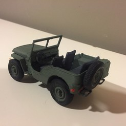 Télécharger plan imprimante 3D gatuit Jeep 1941 - Kit de montage, guillesilvestrini