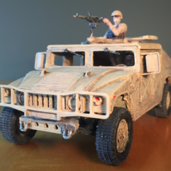 Free HUMMER H1 - Assembly model kit 1:35 3D printer file, guillesilvestrini