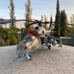 WhatsApp Image 2020-04-24 at 18.26.25.jpeg Download STL file HIND MI24 RUSSIAN HELICOPTER - SCALE MODEL 1:48 • 3D printer object, guillesilvestrini