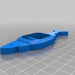 Download free 3D printer designs Shark Tee Shirt Clip, truthway2