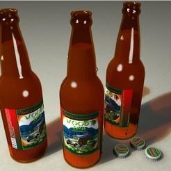 Download free 3D model Beer bottle, pumpkinhead3d
