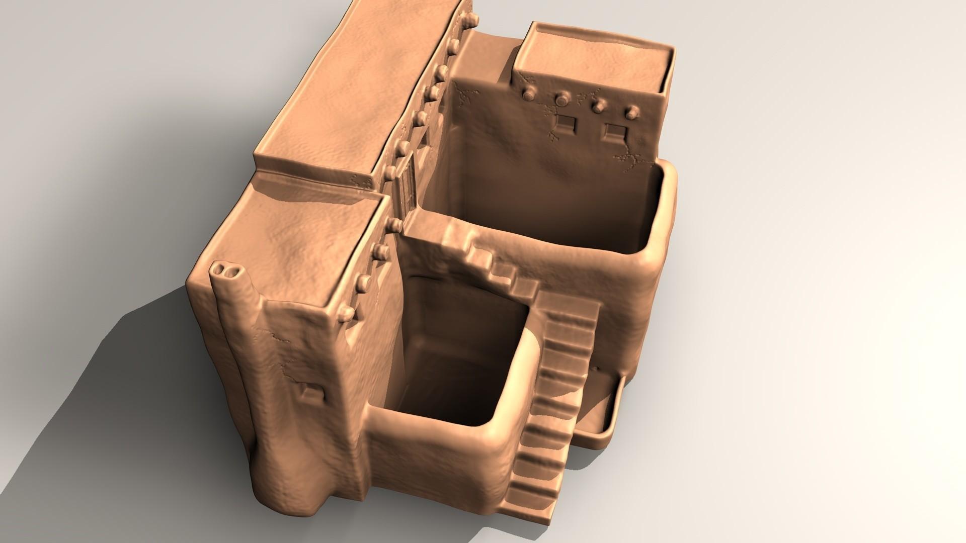 pueblo-B.jpg Download STL file Pueblo desk pot • 3D printer model, pumpkinhead3d