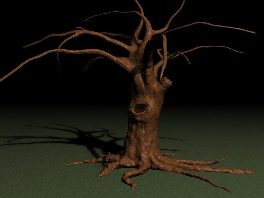 OLD-TREE-A.jpg Download STL file Old tree • 3D printer template, pumpkinhead3d
