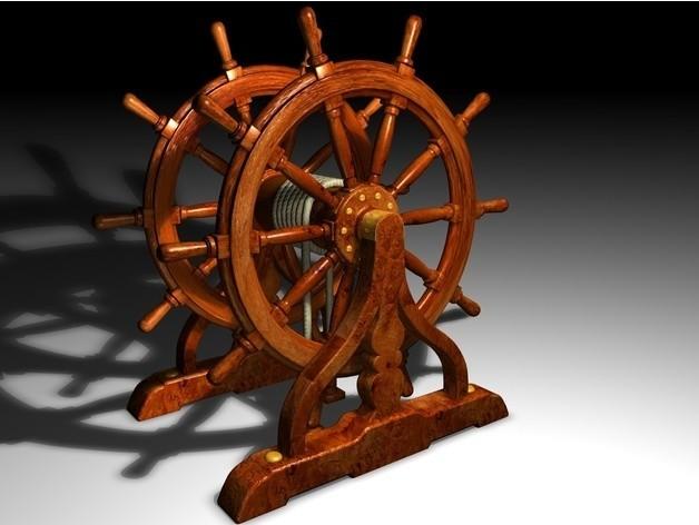 31f9aa5bf265575c3b76245bd9d1fde9_preview_featured.jpg Download STL file Ship's Wheel • 3D printer template, pumpkinhead3d