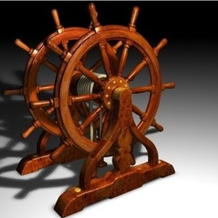 Free Ship's Wheel STL file, pumpkinhead3d