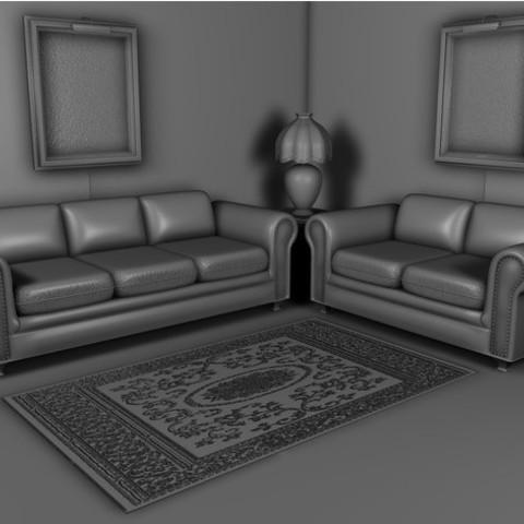7569ae058d0f2fc440428629c81f3060_preview_featured.jpg Download STL file Sofa • 3D printable template, pumpkinhead3d