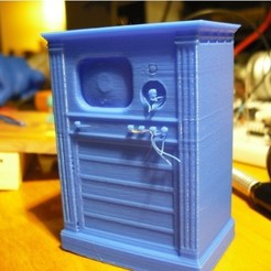 Download free 3D printing designs Old TV, pumpkinhead3d