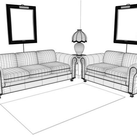 79b194b1bc0a61b41d8553e64427d499_preview_featured.jpg Download STL file Sofa • 3D printable template, pumpkinhead3d