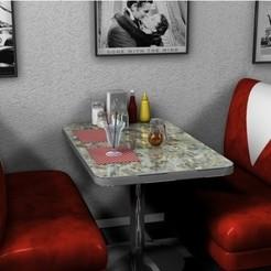 diseños 3d gratis Stand de restaurante, pumpkinhead3d