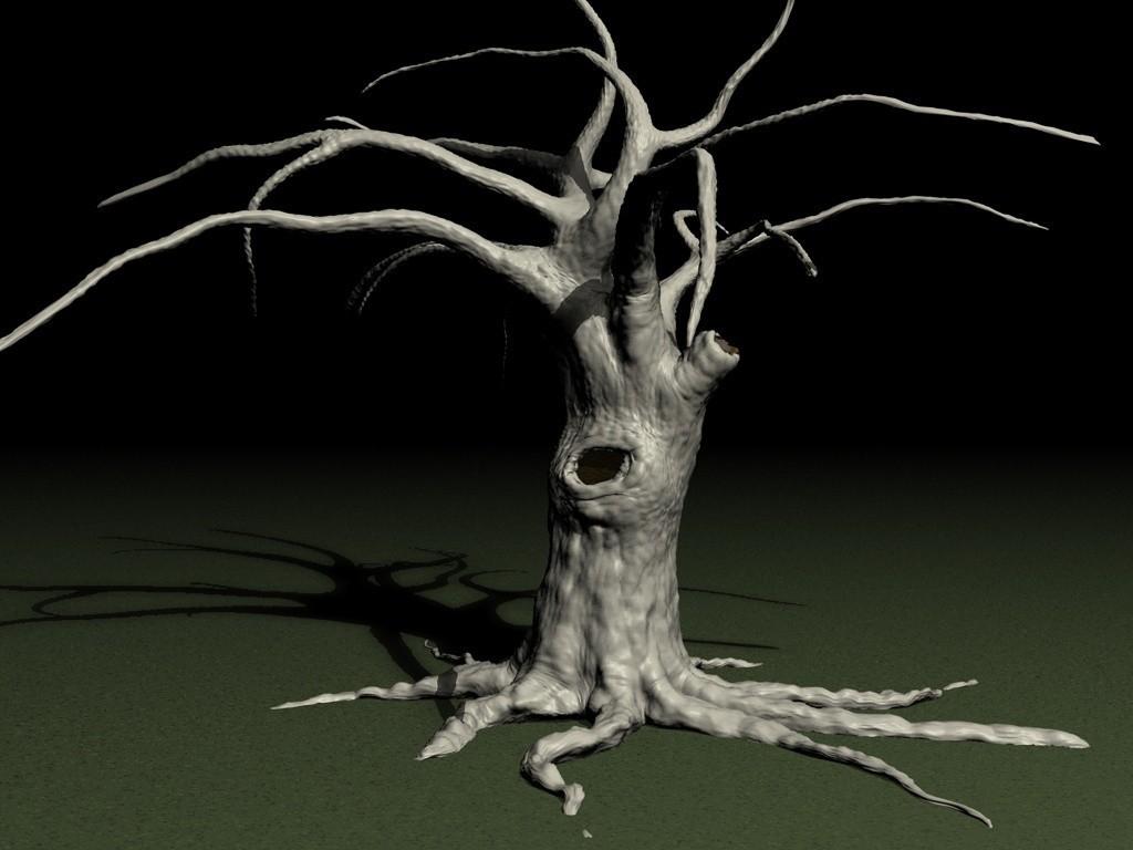 OLD-TREE-B.jpg Download STL file Old tree • 3D printer template, pumpkinhead3d