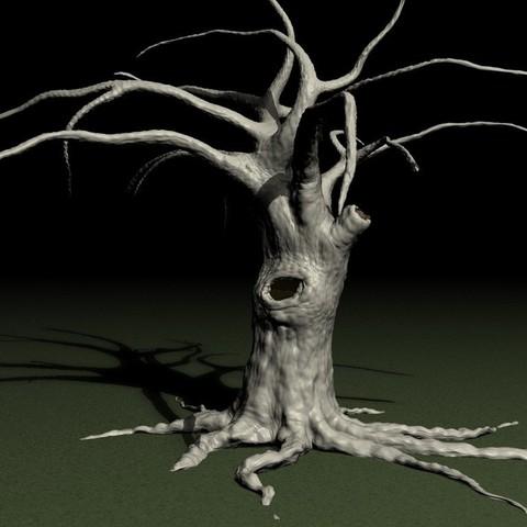 Free STL Old tree, pumpkinhead3d