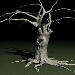 OLD-TREE-B.jpg Download STL file Old tree • 3D printer template, pumpkinhead3d