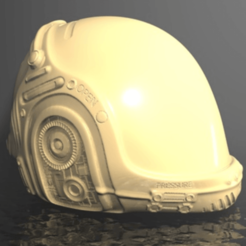3D printer models Space Helmet Piggy Bank, pumpkinhead3d
