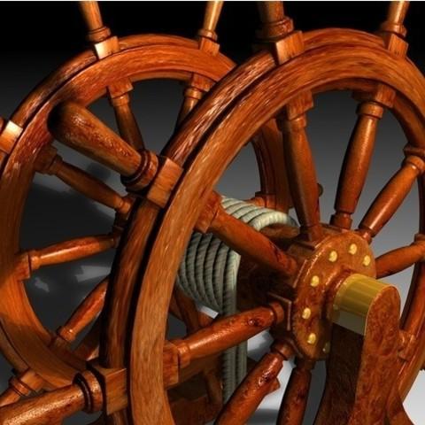 8f832f3289c79b7b119ee08edb273eee_preview_featured.jpg Download STL file Ship's Wheel • 3D printer template, pumpkinhead3d