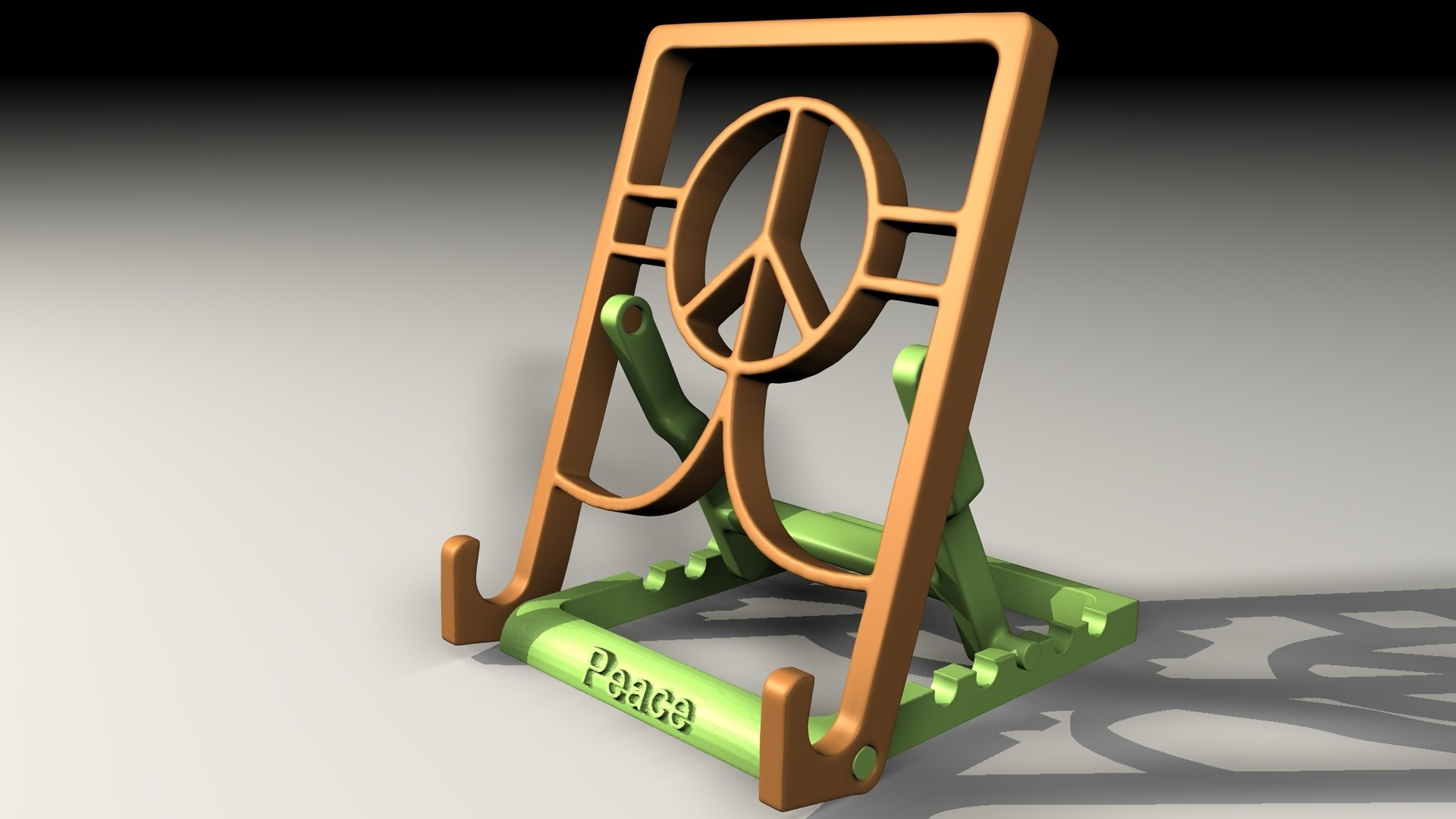 Tablet-stand-AA.jpg Download free STL file Tablet stand • Template to 3D print, pumpkinhead3d