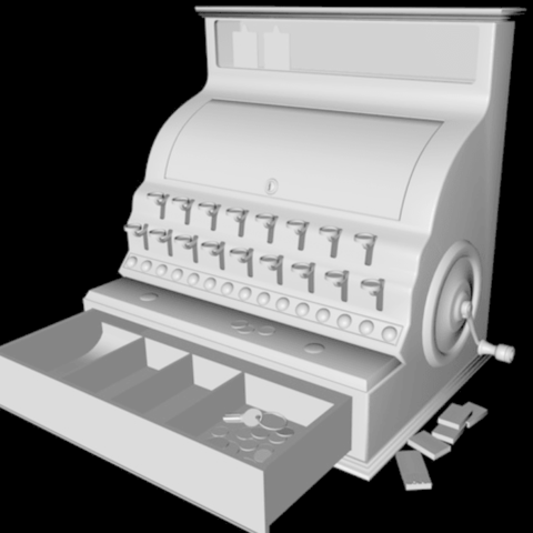 Free 3d printer files Cash register, pumpkinhead3d