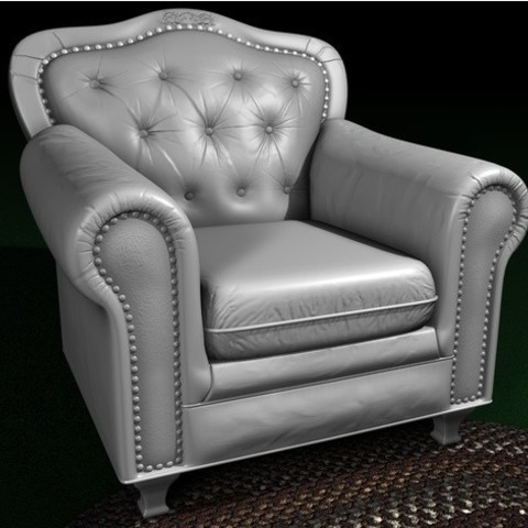 Free Leather chair 3D model, pumpkinhead3d