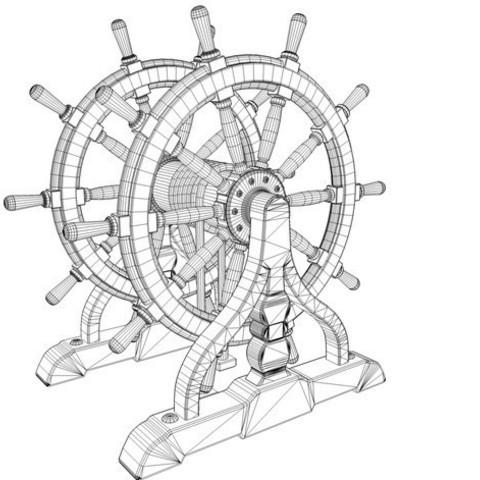 15f2cfa8b3c47230e988449a8578cec9_preview_featured.jpg Download STL file Ship's Wheel • 3D printer template, pumpkinhead3d