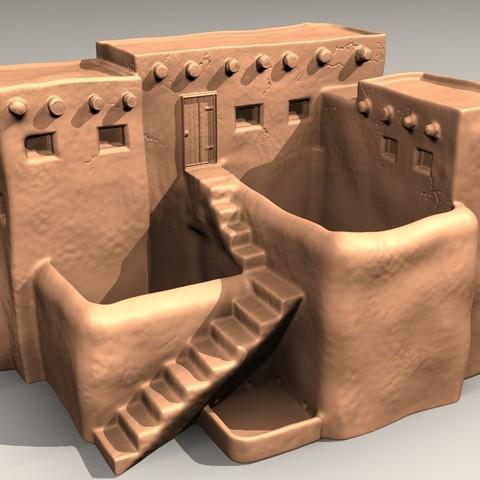 Free STL Pueblo desk pot, pumpkinhead3d