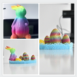 Free STL Easter Bunny and Eggs, mooz3dprinter