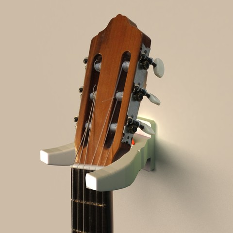 Colgador guitarra.jpg Download free STL file Guitar hanger with puero • Model to 3D print, danielhuertasperez
