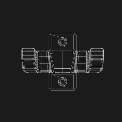 colgador_vistas_front.jpg Download free STL file Guitar hanger with puero • Model to 3D print, danielhuertasperez