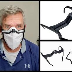 Descargar Modelos 3D para imprimir gratis Máscara facial reutilizable (con filtro desechable), 3Dnm8or