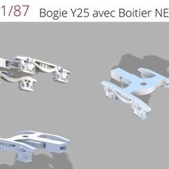 Download STL HO 1/87 Bogie Y25 with NEM housing, loicbellecfr