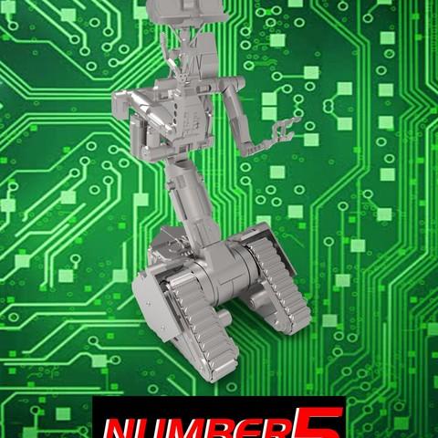 Descargar modelos 3D para imprimir Número de robot 5 Cortocircuito 2 johhny 5, jok3r0314