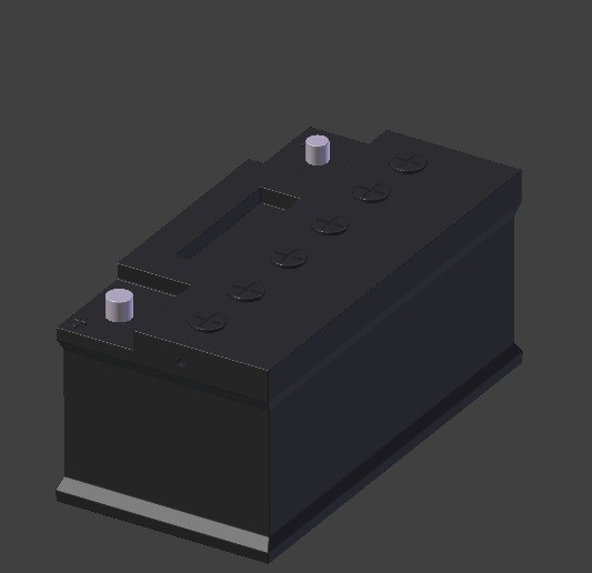 batterie2.jpg Download OBJ file car battery • 3D print design, baudrymichael