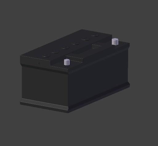 batterie 1.jpg Download OBJ file car battery • 3D print design, baudrymichael