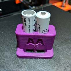 Download free 3D printing templates AA Batteries Soldering Holder, fuco