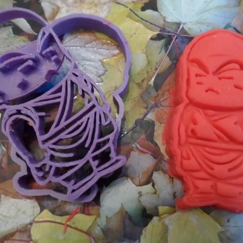 SAM_5015.JPG Télécharger fichier STL gratuit Dragon Ball Krilin,Goku x3 cutters • Design imprimable en 3D, bboy_born22