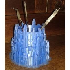 Impresiones 3D gratis Estuche para lápices Minas Tirith (Gondor), Burki2512
