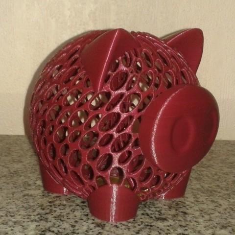 Impresiones 3D gratis Banco de Monedas de Cerdo, Burki2512