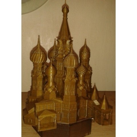 Free 3d printer model St Basil Cathedral Moscow, Burki2512
