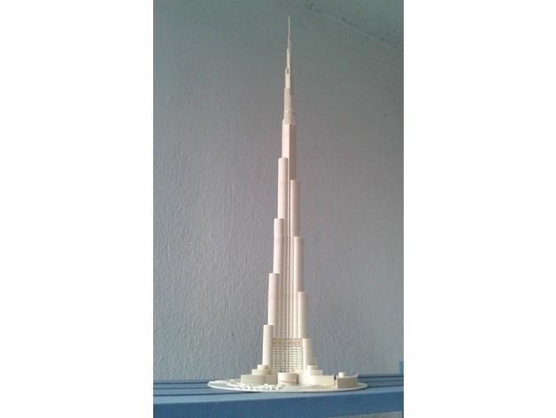 b595eac10adcc78b9b2a6d7fb0112955_preview_featured.jpg Download free STL file Burj Khalifa • 3D printable model, Burki2512