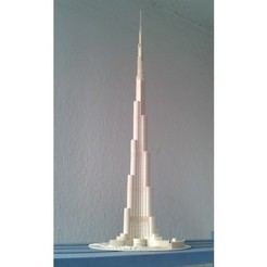 b595eac10adcc78b9b2a6d7fb0112955_preview_featured.jpg Download free STL file Burj Khalifa • 3D printable model, Burki2512