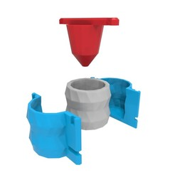 Download 3D printer files Concrete Pot Mould (Model 5), Joaqerr