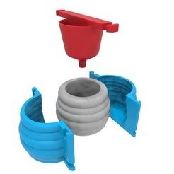 14 full molde.jpg Download STL file Concrete Pot Mould (Model 14) • 3D printer design, Joaqerr