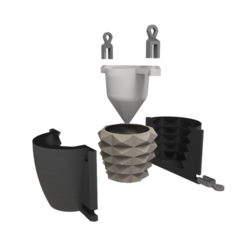 Download 3D printing templates Mould for cement pots, JoaquinMartinoia