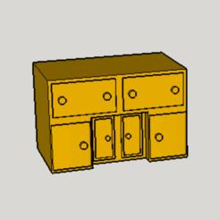 Free STL Classic Desk, Imura_Works_FR