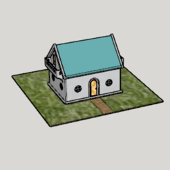 Free 3D printer model Concrete 3D Print 1DK Miniature House Model, Imura_Industry_FR